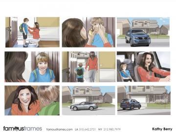 Kathy Berry's Vehicles storyboard art