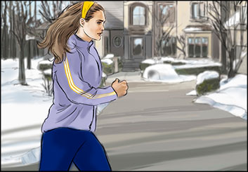 Kathy Berry's Action storyboard art