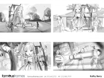 Kathy Berry's Characters / Creatures storyboard art