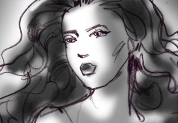 Mark Millicent's Beauty / Fashion storyboard art