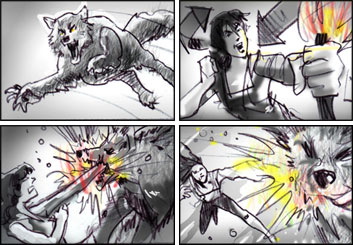 Mark Millicent*'s Film/TV storyboard art