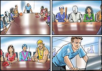 Mark Millicent*'s People - Color  storyboard art