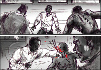 Mark Millicent's Action storyboard art