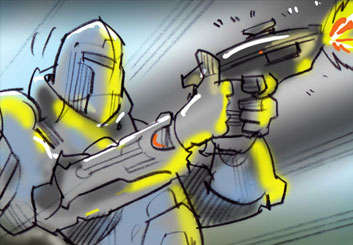 Mark Millicent*'s Action storyboard art