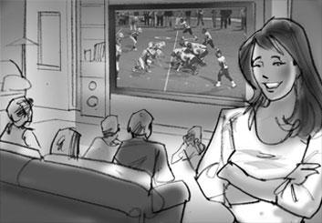 Mark Millicent's People - B&W Tone storyboard art