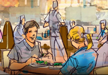 Mark Millicent's People - Color  storyboard art