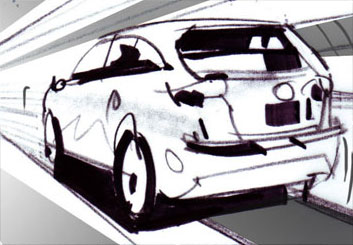 Mark Millicent's Shooting Vehicles storyboard art