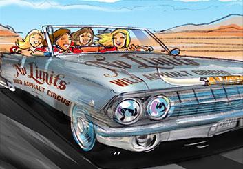 Mark Millicent's Vehicles storyboard art