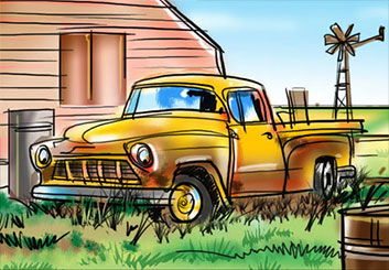 Mark Millicent's Vehicles storyboard art