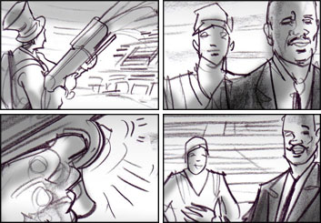 Mark Millicent's Shootingboards storyboard art