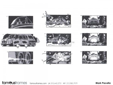 Mark Pacella*'s Shooting Vehicles storyboard art