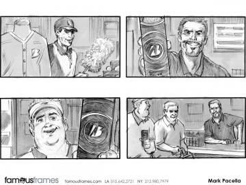 Mark Pacella*'s People - B&W Tone storyboard art