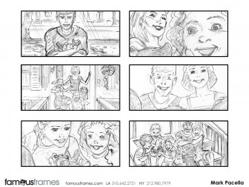 Mark Pacella*'s People - B&W Line storyboard art