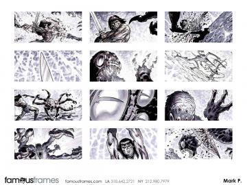 Mark Pacella*'s Action storyboard art