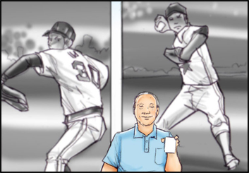 Mark Millicent's Sports storyboard art