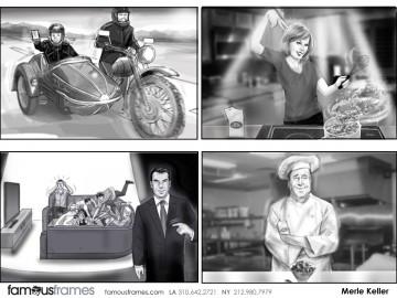 Merle Keller's People - B&W Tone storyboard art