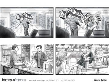 Merle Keller's People - B&W Tone storyboard art