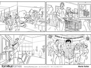 Merle Keller's People - B&W Line storyboard art