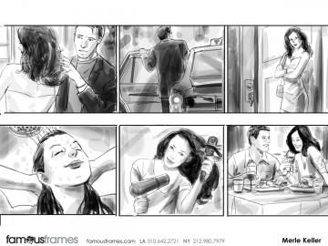 Merle Keller's Beauty / Fashion storyboard art