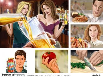Merle Keller's Food storyboard art