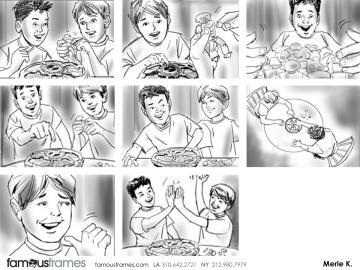 Merle Keller's Kids storyboard art